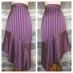 Banana Republic Striped Asymmetrical Skirt NWOT